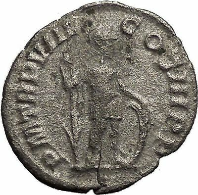 Severus Alexander 228AD Ancient Silver Roman Coin Virtus Valour w spear  i32975