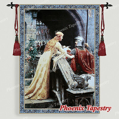 "The Godspeed Medieval Fine Art Tapestry Wall hanging, Cotton 100%, 55""x39"", UK"