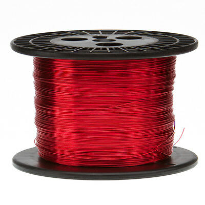 "16 AWG Gauge Enameled Copper Magnet Wire 5.0 lbs 631' Length 0.0520"" 155C Red"