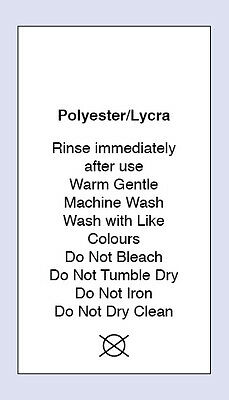 100 Polyester / Lycra Sewing Washing Care Labels
