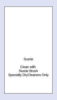 100 Suede Sewing Washing Care Labels