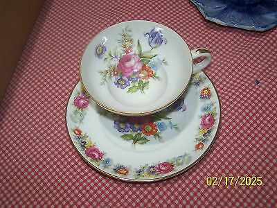 Kanehan China Florals FLOWERS Made in Occupied Japan CUP AND SAUCER