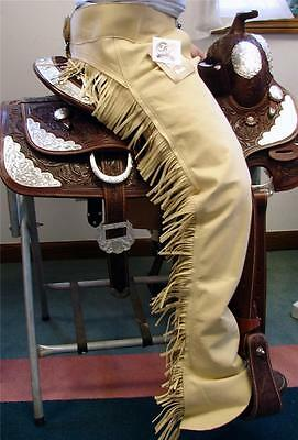 Tough 1 Synthetic Beige Riding Driving Motorcycle Western CHAPS CLOSE OUT Sale