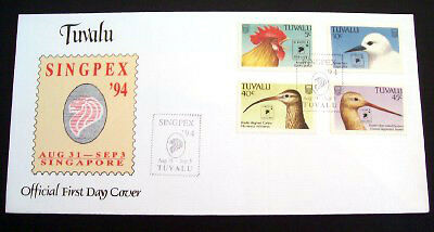 Tuvalu Singpex 94 set on official unaddressed first day cover.