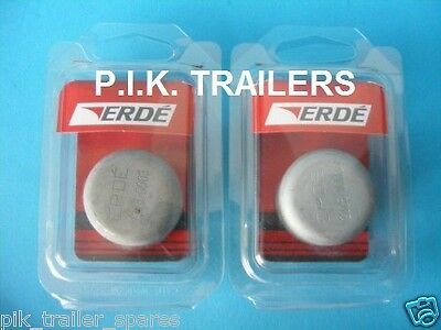 2 x Genuine 35mm Hub Grease Dust Caps for Erde & Daxara 107 127 137 Trailer