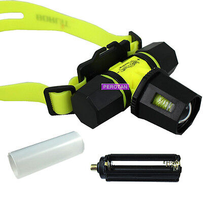 NEW CREE XM-L T6 1600Lumens LED Waterproof Underwater Zoomable Diving Headlight