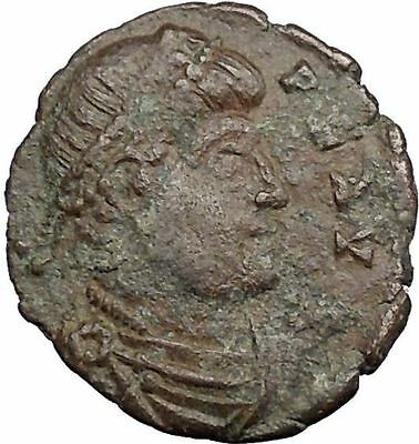 "VALENS ""Last True Roman"" w labarum 364AD Ancient Roman Coin Christ monog i33072"