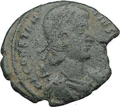 CONSTANTIUS II Constantine the Great son Ancient Roman Coin Horse man i33029