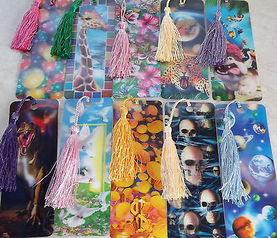 3D Bookmarks With Silk Tassel