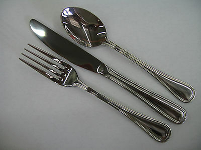 Regal Pattern Flatware Silverware 18pcs set  Stainless Steel Extra Heavy Weight
