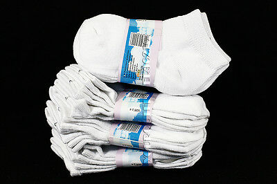 2-4 Kid's Toddler Boys Girls Mid-high Ankle Solid White Socks Spandex Cotton New