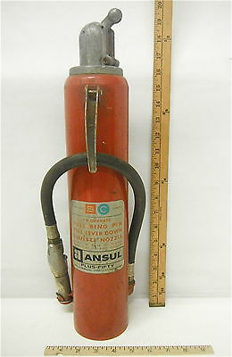 Vintage Odd Ansul Plus-Fifty Fire Extinguisher Empty Mechanical Design Marine