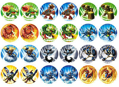 Skylanders 2 Cupcake Edible Icing Party Cake Topper Decoration Image Custom