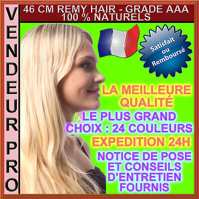 20 Extensions Cheveux Remy Pose A Chaud 100% Naturels