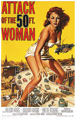 Attack of the 50 Foot Woman Vintage Movie Ad Art Poster Print