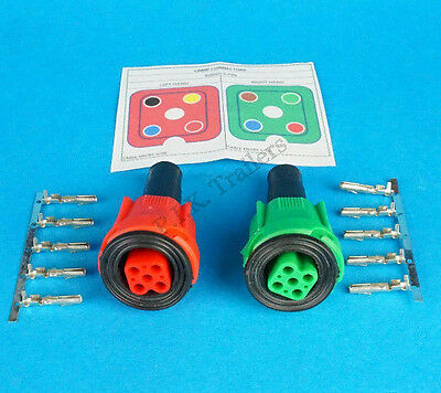 2 x Wiring Plug & Pins & Diagram for Radex 2800 2900 5800 6400 6800 Lamp Lights