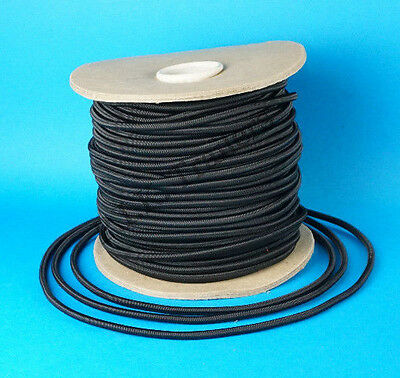 20 Metres 6mm BLACK Elastic Bungee Shock Cord Rope for Trailer Cover Tie Down