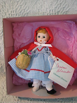 "8"" Madame Alexander ""red Riding Hood"" Doll, Unopened Box, Checkered Dress!"
