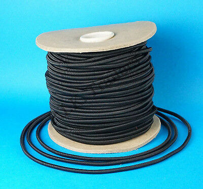 10 Metres 6mm BLACK Elastic Bungee Shock Cord Rope for Trailer Cover Tie Down