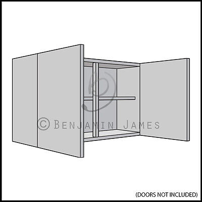 Kitchen Carcass Unit - Double Wall Cabinet 575mm High - 18mm Back - 100 Colours!