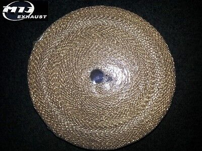 30 Meters Gold Beige Exhaust Heat Wrap Manifold Downpipe High Temp Bandage Roll