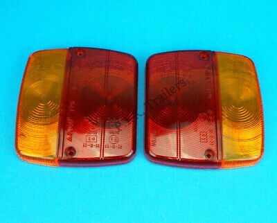 2 x AJBA FP11 Replacement LENS for 4 Way Rear Trailer Lamp Light Daxara & Erde