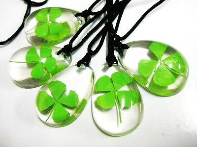12pcs Real Lovely Four Leaf Clover super Lucky Necklace