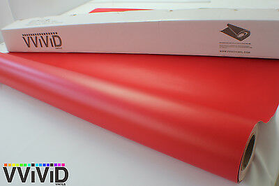 Vvivid 3Mil Matte Red Vinyl Car Wrapping Decal