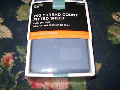 250 Thread Count 1 fitted sheet plain blue 100 percent cotton Target Brand Home