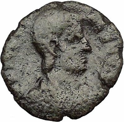 JULIAN II as Caesar in military dress  w globe 355AD Ancient Roman Coin i33263