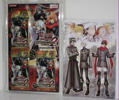 KONAMI japanese anime D.GRAY MAN trading cards 3 packs 30cards set with 1 poster