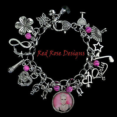 ~Pink Themed Charm Bracelet, Alecia Moore~