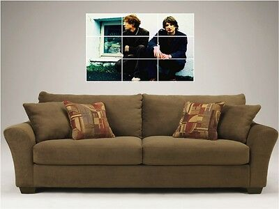 "Kings Of Convenience Mosaic 35""x25"" Inch Wall Poster Indie Folk"