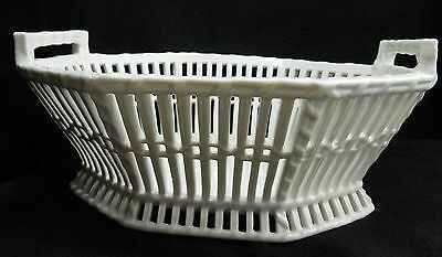 Antique 1840's - 1850's KPM Undecorated Porcelain Oval Basket E:SK-016