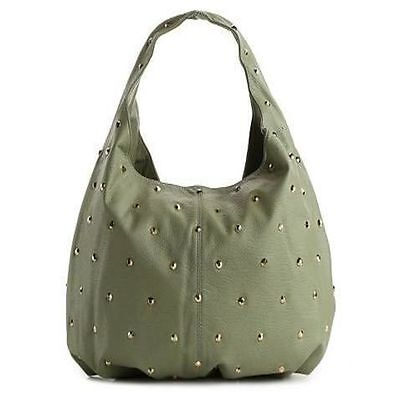 DEUX LUX Handbag Empire City Studded Hobo Purse Bag Putty-NWT-RP:$170