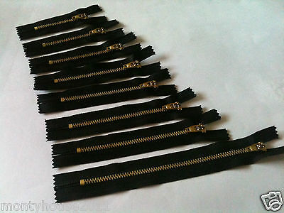NEW!Black Closed End Zip, Zips, Zipper, Zippers Heavyweight Metal 3,4,5,6,7 inch
