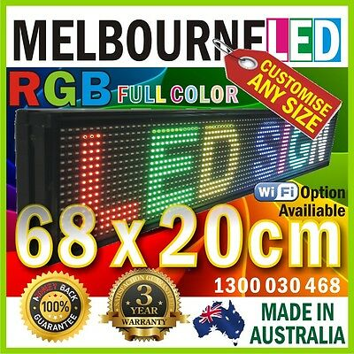 LED RGB FULL COLOR Message Display Scrolling SIGN 68x20cm USB Drive Control