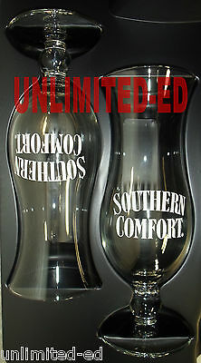 Southern Comfort So Co Hurricane Glasses - SET of 2 - BRAND NEW