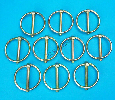 10 x Lynch Pins 5mm dia. pin x 36mm dia. ring - Trailer & Horsebox Linch Pins