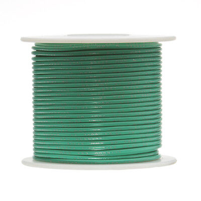 "18 AWG Gauge Stranded Hook Up Wire Green 100 ft 0.0403"" UL1015 600 Volts"