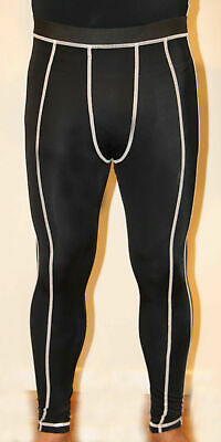 Mens Black Compression Pants Skins Leggings Gym Running Bike Cycling Training