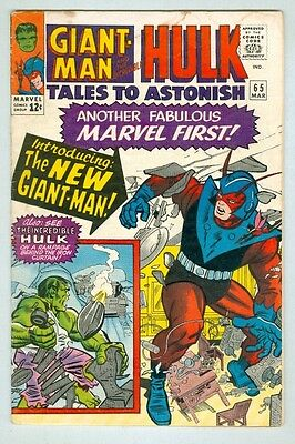 Tales to Astonish #65 March 1965 VG- Ditko Hulk