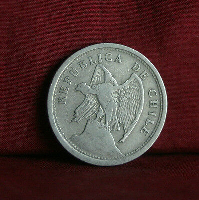 1924 Chile 20 Centavos World Coin Condor KM167.1 South America 20 cents