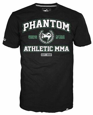 "Phantom MMA ""Athletic"" T-Shirt -Schwarz  / Grün, Herren Shirt"