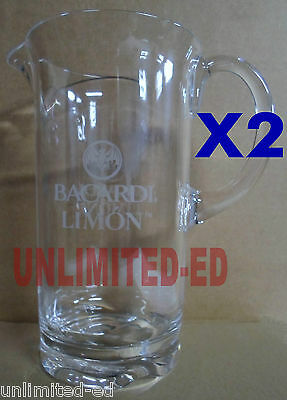 Bacardi Limon Pitchers - SET of 2 - BRAND NEW - FREE USA SHIPPING