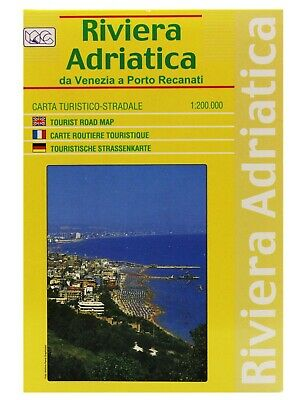 Riviera Adriatica Cartina Turistica Stradale 1:200 000 [Carta/Mappa] Global Map