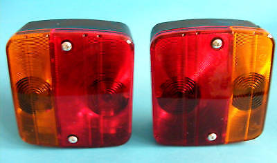 2 x Rear 4 Way Lamp Light Cluster for Horse Box Trailer