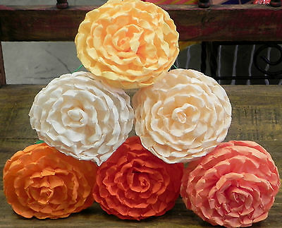 """Mexican Paper Flowers Set of 6  Multicolor """"We Make Special Orders"""""""