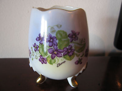 Vintage Possibly Antique Leni or Erich Parbus Hand Painted Porcelain Vase