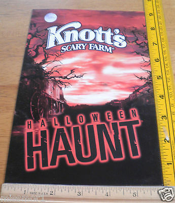 Knotts Berry farm 2005 Halloween Haunt monsters photo picture in sleeve Scary